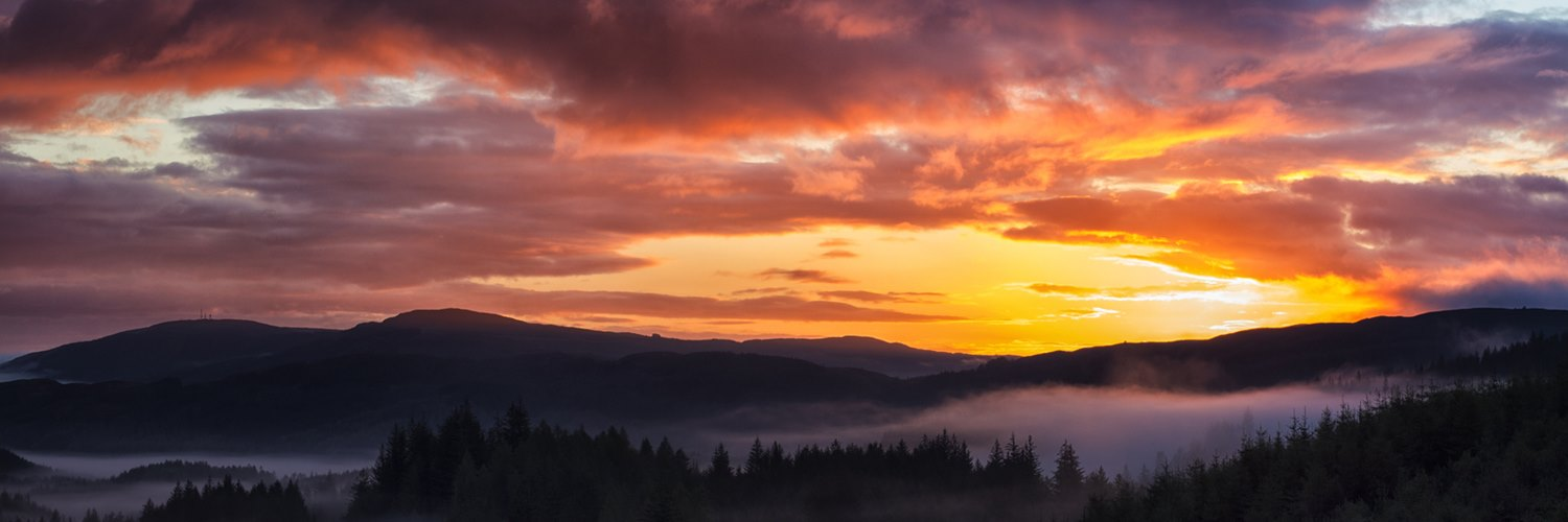 sunset over aberfoyle
